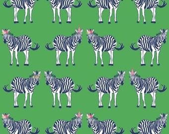 1 Yard Safari Party by Melissa Mortenson for Riley Blake Designs- 5600 Green Main with Sparkle
