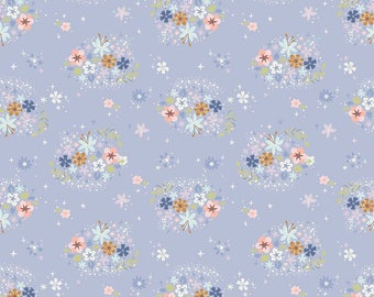 1 Yard Neverland by JIll Howarth for Riley Blake Designs- 6574 Periwinkle Star Flower
