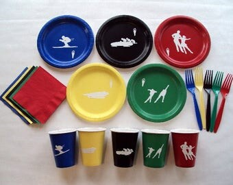 Winter Olympics Tableware Set for 5 People