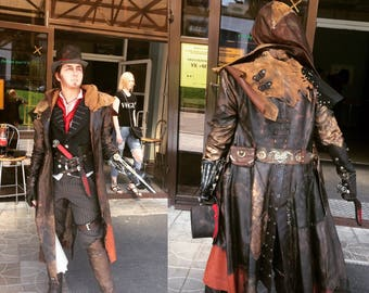 Jacob Frye natural leather cosplay costume Assassins Creed Syndicate