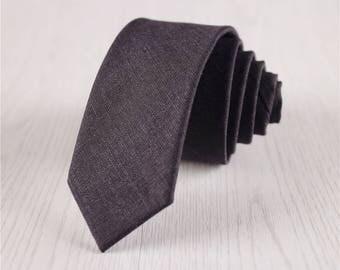 black wool ties.solid color woolen ties.2inch skinny neckties for wedding neckties for groomsmen.mens stylish woolen accessories+nt.211s