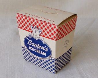 Vintage Elsie The Cow,  Borden Ice Cream Container