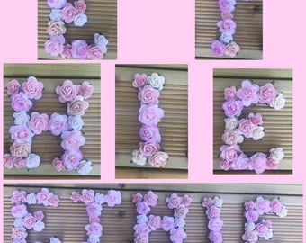 Bunting letters/ name bunting/ flower bunting/ personalised bunting/ nursery decor/ wedding decor