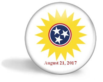Tennessee Eclipse Magnet, Eclipse Party Pin, Tennessee Eclipse Pin, Total Solar Eclipse