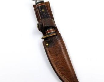 Three Inch Western Knife with Leather Sheath