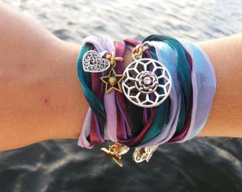 "Whimsical gypsy wrap bracelet ""Esmeralda""."