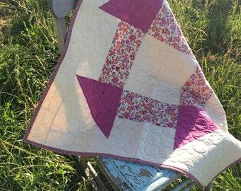 Handmade Baby Quilt - churn dash