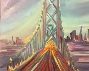 Bustling bridge