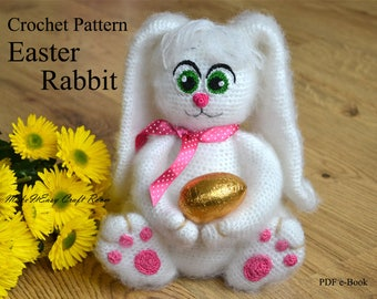 Easter bunny crochet pattern Amigurumi bunny pattern Crochet Easter pattern Rabbit pattern Crochet bunny toy My first bunny Digital download
