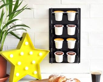 Keurig Storage Dispenser, K-Cup Holder, Coffee Pod Organizer, Wall Storage Organize, Space Saving, Home Gift, Modern Design, Plexiglas Decor