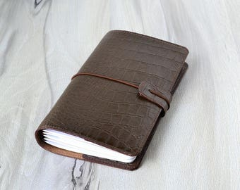 Travel journal Leather notebook Leather journal Refillable notebook Journal for traveler Midori travelers notebook Brown journal notebook