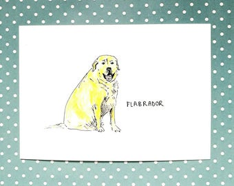 FLABRADOR Labrador Punny Card for Any Occasion by Polly Baker