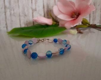 Mother of pearl bracelet lilac Blue