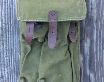 Army Canvas Bag - Army Tool Pouch Bag - US Army Bag - Tool Belt - Canvas Bag - Army Green Canvas - Tool Pouch