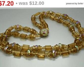Austrian Double Strand Bead Necklace