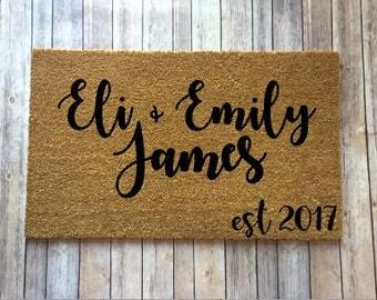 Wedding Gift, Door mat, custom doormat, first name doormat, Housewarming gift