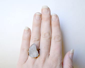Rose Quartz & Copper Ring Size 6.25