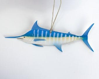 Blue Marlin Fish Christmas Ornament