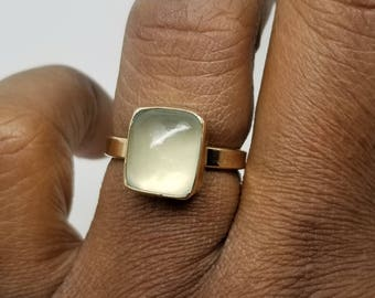 Aquamarine 14k gold filled ring