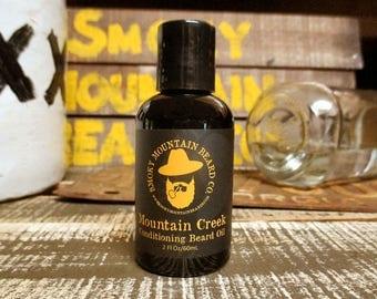 Beard Oil - Mountain Creek (Cedarwood, Patchouli - Woodsy/Outdoorsy) - 2 Fl.Oz.