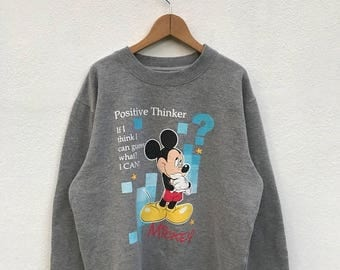 20% OFF Vintage Mickey Mouse Pullover/Mickey Mouse Sweater/Mickey Mouse Disney/Cartoon Shirt/Mickey Mouse Big Print