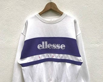 "20% OFF Vintage Ellesse Italia Big Logo Sweatshirt / Casual Shirt / Ellesse Sweater / Ellesse Tennis Shirt / Ellesse Sportwear / Armpit 20"""