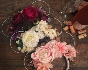 Wine ears, epcot food and wine, merlot, rose, white wine ears, floral wine ears, wine corks, minnie ears, mouse ears, mickey ears, disney
