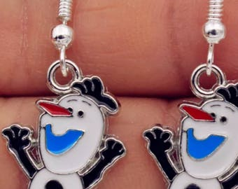 Kids Cute Olaf Dangling Earrings