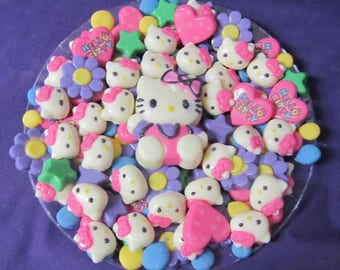Kitty heart balloons flowers birthday baby shower chocolate candy tray