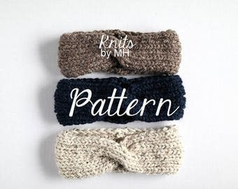 Knit Headband Pattern // Headband Knitting Pattern // Chunky Headband Pattern