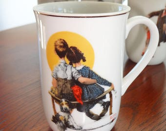 "Vintage Norman Rockwell mug, 1926 ""First Love"""