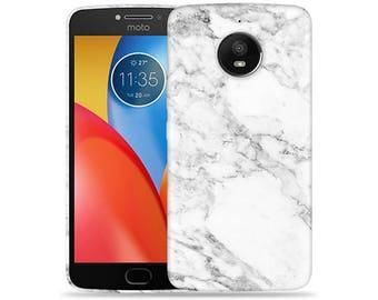 Motorola Moto E4 Case - Motorola E4 Case #Marble Hard Phone Cover