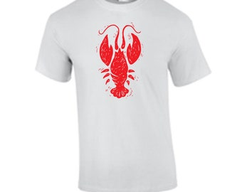 New Orleans Louisiana Crawfish Sketch T shirt