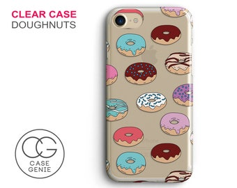 Doughnuts Clear Phone Case for iPhone 7 Plus, 7, 6, 6s Cell Phone Cover Clear and Frosted Transparent