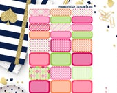 24 Sherbet Collection Quarter and Half Box Planner Stickers! KT416