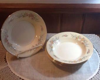 Vintage, Homer Laughlin, Cashmere,  Gregorian Nautilus, Ferndale, 5 soup bowls