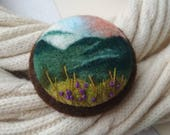 Gift for mom Jewelry gift Flower brooch Needle felted brooch Wool pin Felted jewelry Gifts for woman Mountain jewelry