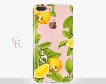 Lemon iPhone SE Case - Clear Case - For iPhone 8 - iPhone X - iPhone 7 Plus - iPhone 6 - iPhone 6S - iPhone SE Transparent - Samsung S8