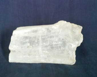 Natural Selenite Crystal / LARGE Meditation Stone / Reiki Crystal Healing / Heart Chakra  / Selenite Slab / Altar Crystals / Yoga Home Decor