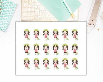 Planner Girl Cleaning Day Stickers, Planner Girl Cleaning Day Planner Stickers – Will fit any planner– 1899
