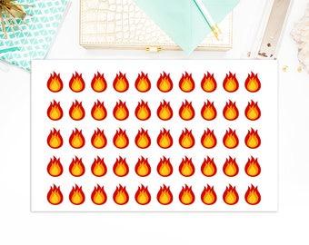 Bonfire Campfire Stickers, Campfire Bonfire Planner Stickers, Matte Glossy, Sticker Sale, 5760