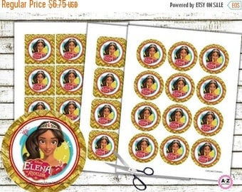 60% OFF Elena of Avalor Cupcake Topper, Instant Download, Unlimited Printing, Favor Tags, Cupcake Circles, Toppers, Elena, favor tags, banne