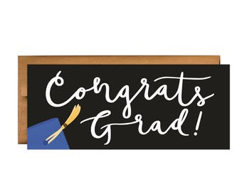 Congratulations Greeting Card: Congrats Grad Greeting Card
