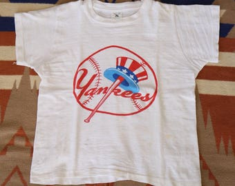 Vintage 1960s 60s Yankees t shirt size 12
