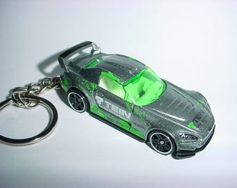 3D TEIN Honda S2000 custom keychain by Brian Thornton keyring key chain finished in silver color trim