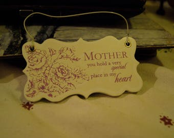 MOTHER you hold a very special place in my heart Oblong Wall Hanging