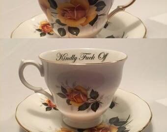 Custom swear/ funny  tea cups