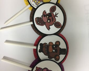 12 Five Nights At Freddy's cupcake toppers