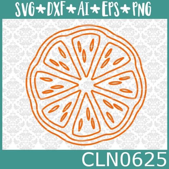 CLN0625 Orange Kiwi Lemon Half Pattern Hand Drawn Fruity SVG DXF Ai Eps PNG Vector Instant Download Commercial Cut File Cricut SIlhouette