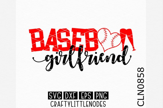 Baseball Girlfriend, SVG, DXF, PNG, Eps, Ai, Shirt Design, Commercial Use, Illustration, Cricut, Silhouette, Cutting File, Baseball Svg